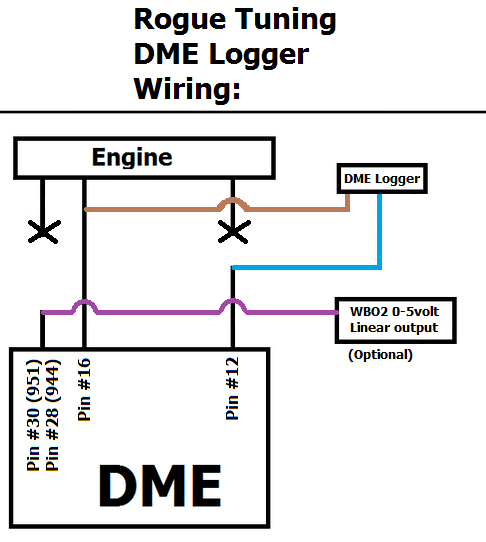 DME Logger Wiring.
